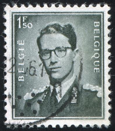 baudouin: BELGIUM - CIRCA 1952: stamp printed by Belgium, shows King Baudouin, circa 1952