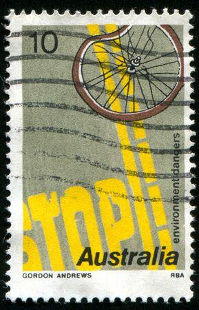 AUSTRALIA - CIRCA 1975: stamp printed by Australia, shows Road Safety, circa 1975 photo