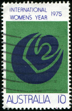 womanhood: AUSTRALIA - CIRCA 1975: stamp printed by Australia, shows Symbols of Womanhood Sun, Moon, circa 1975