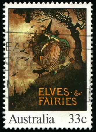 AUSTRALIA - CIRCA 1985: stamp printed by Australia, shows Illustrations from classic children�s books, Elves & Fairies, circa 1985