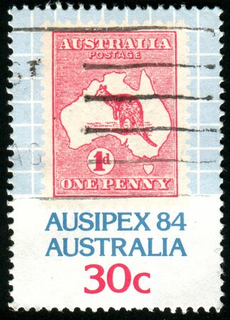 AUSTRALIA - CIRCA 1984: stamp printed by Australia, shows australia map, circa 1984 photo