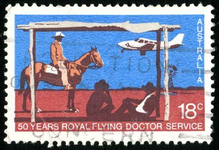 AUSTRALIA - CIRCA 1978: stamp printed by Australia, shows Royal Flying Doctor Service, circa 1978 photo