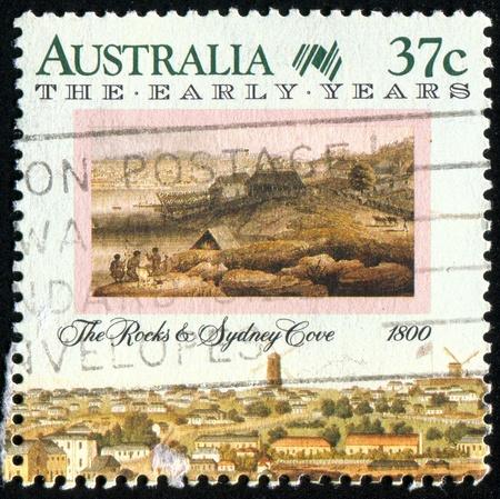 AUSTRALIA - CIRCA 1988: stamp printed by Australia, shows Sydney, circa 1988 photo