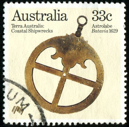 AUSTRALIA - CIRCA 1985: stamp printed by Australia, shows Coastal Shipwrecks, circa 1985 Stock Photo - 8591130