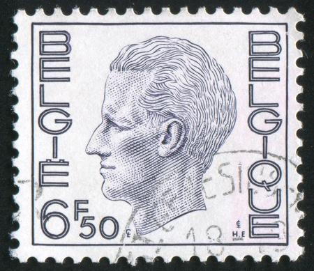 baudouin: BELGIUM - CIRCA 1971: stamp printed by Belgium, shows King Baudouin, circa 1971