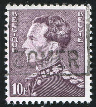leopold: BELGIUM - CIRCA 1936: stamp printed by Belgium, shows Leopold III, circa 1936 Editorial