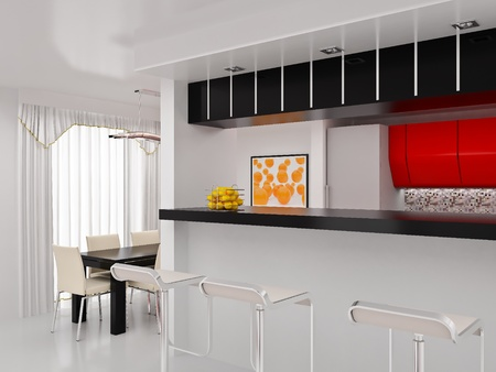 Interior of the modern room. High resolution image. 3d rendered illustration.