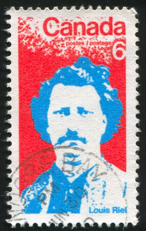 riel: CANADA - CIRCA 1970: stamp printed by Canada, shows Louis Riel, circa 1970 Editorial