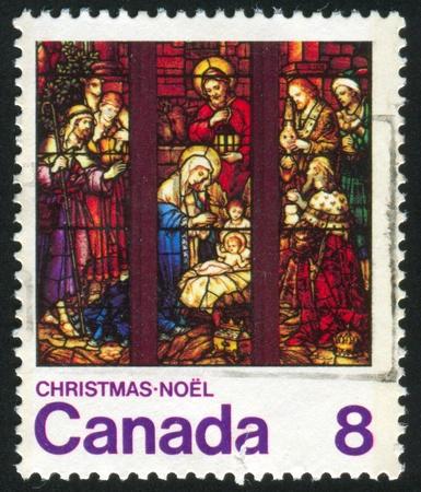 canada stamp: CANADA - CIRCA 1976: stamp printed by Canada, shows christmas, circa 1976