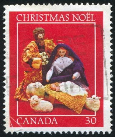 CANADA - CIRCA 1982: stamp printed by Canada, shows Creche figures, circa 1982 photo