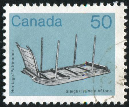 artifact: CANADA - CIRCA 1983: stamp printed by Canada, shows Artifact, circa 1983