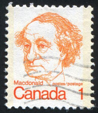 CANADA - CIRCA 1972: stamp printed by Canada, shows Sir John A. Macdonald, circa 1972 Stock Photo - 8671336