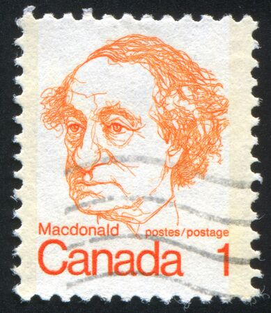 CANADA - CIRCA 1972: stamp printed by Canada, shows Sir John A. Macdonald, circa 1972 Stock Photo - 8671336