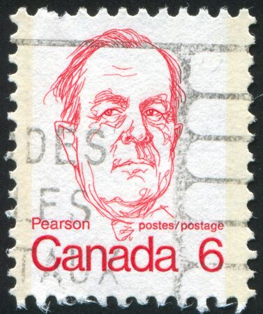 CANADA - CIRCA 1972: stamp printed by Canada, shows B. Pearson, circa 1972 Stock Photo - 8715355