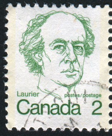 CANADA - CIRCA 1972: stamp printed by Canada, shows Sir Wilfrid Laurier, circa 1972 Stock Photo - 8715357