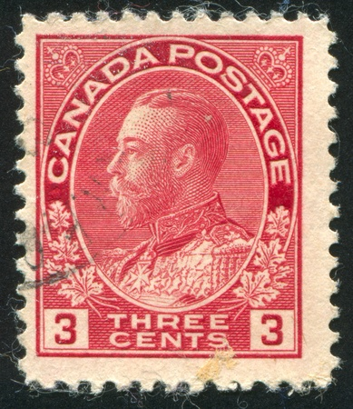 CANADA - CIRCA 1911: stamp printed by Canada, shows King George V, circa 1911 Stock Photo - 8715378