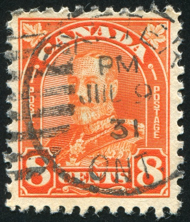 CANADA - CIRCA 1929: stamp printed by Canada, shows King George VI in Army Uniform, circa 1929 Stock Photo - 8715393