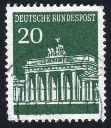 GERMANY - CIRCA 1965: stamp printed by Germany, shows shot put, circa 1965 photo