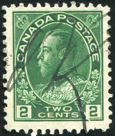 CANADA - CIRCA 1911: stamp printed by Canada, shows King George V, circa 1911 Stock Photo - 8824110
