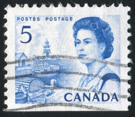 CANADA - CIRCA 1972: stamp printed by Canada, shows Queen Elizabeth II, circa 1972 Stock Photo - 8824124