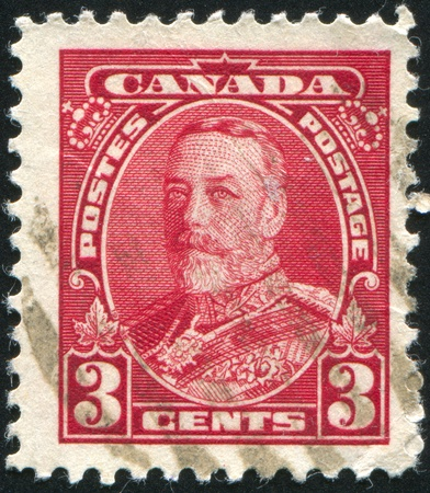CANADA - CIRCA 1929: stamp printed by Canada, shows King George VI in Army Uniform, circa 1929 Stock Photo - 8824157