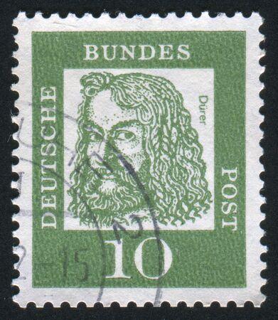 durer: Germania - CIRCA 1961: timbro stampato dalla Germania, mostra Albrecht Durer, intorno al 1961