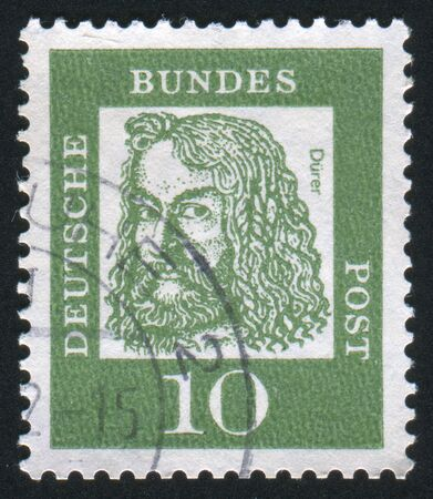 durer: GERMANY - CIRCA 1961: stamp printed by Germany, shows Albrecht Durer, circa 1961