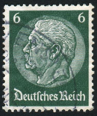 GERMANY - CIRCA 1932: stamp printed by Germany, shows Hindenburg, circa 1932