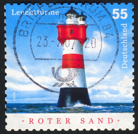 GERMANY - CIRCA 2004: stamp printed by Germany, shows shot put, circa 2004 Stock Photo - 8824118