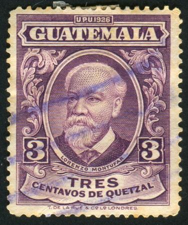 GUATEMALA - ca. 1926: gedruckt von Guatemala, Briefmarke zeigt Lorenzo Montufar, um 1926 Lizenzfreie Bilder - 8824238