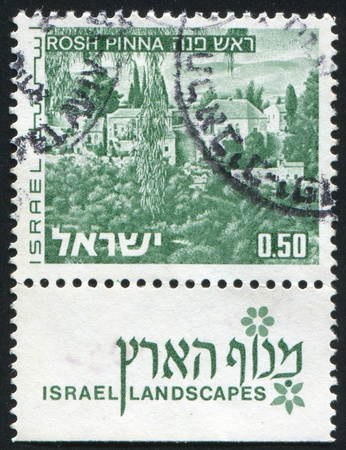 ISRAEL - CIRCA 1971: stamp printed by Israel, shows Israel Landscapes, circa 1971 Stock Photo - 8824224
