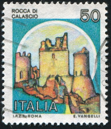 loophole: ITALY - CIRCA 1980: stamp printed by Italy, shows Castles, circa 1980 Stock Photo