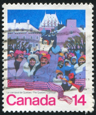 CANADA - CIRCA 1979: stamp printed by Canada, shows Quebec Carnival, circa 1979 Stock Photo - 8913404
