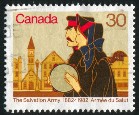 CANADA - CIRCA 1982: stamp printed by Canada, shows Centenary of Salvation Army in Canada, circa 1982 Stock Photo - 8913461