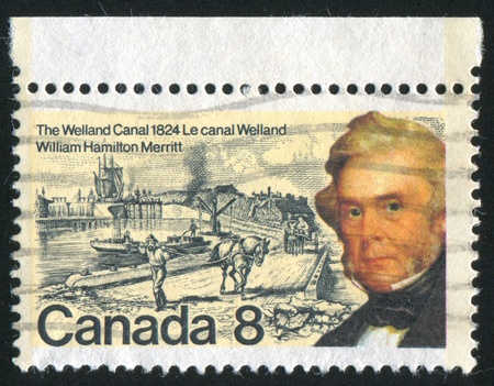 CANADA - CIRCA 1974: stamp printed by Canada, shows William Hamilton Merritt, circa 1974 Stock Photo - 8913371