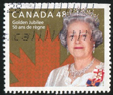 canada stamp: CANADA - CIRCA 2002: stamp printed by Canada, shows queen Elizabeth, circa 2002 Editorial
