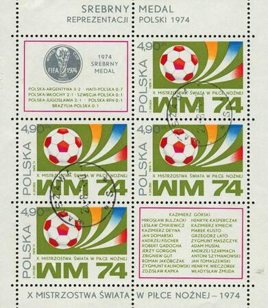POLAND - CIRCA 1974: World Cup Soccer Championship, Munich, circa 1974.