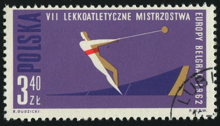 POLAND - CIRCA 1962: 7th European Athletic Championships. Hammer throw, circa 1962. photo