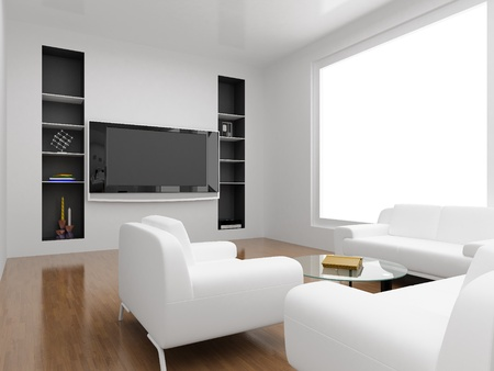 Interior of the modern room. High resolution image. 3d rendered illustration. Stock Illustration - 8987690