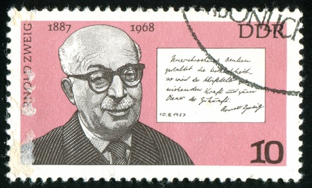 zweig: GERMANY - CIRCA 1976: stamp printed by Germany, shows Arnold Zweig, circa 1976