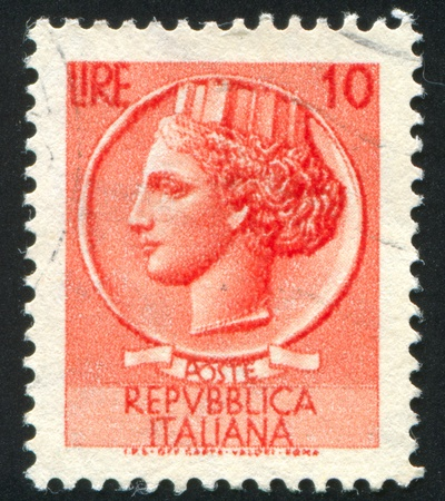 ITALY - CIRCA 1953: stamp printed by Italy, shows Female head, circa 1953
