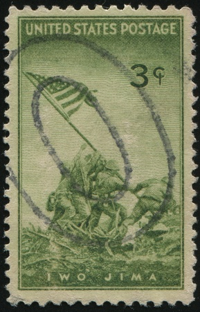 UNITED STATES - CIRCA 1945: stamp printed by United states, shows  Patrick Henry Quotation, circa 1945. photo