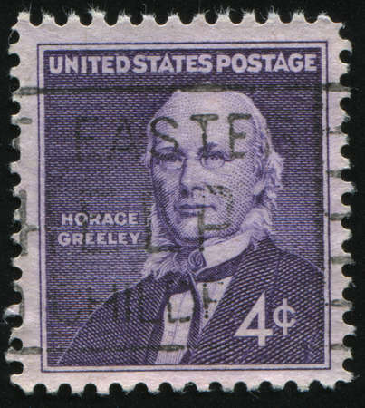 horace: UNITED STATES - CIRCA 1961: stamp printed by United states, shows Horace Greeley, circa 1961