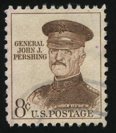 pershing: UNITED STATES - CIRCA 1954: stamp printed by United states, shows John J. Pershing, circa 1954.
