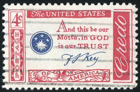 UNITED STATES - CIRCA 1959: stamp printed by United states, Francis Scott Key Quotation, circa 1959 Stock Photo - 8998421