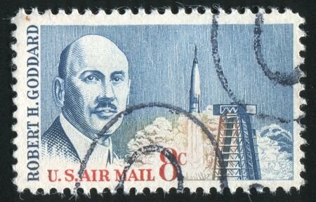 UNITED STATES - CIRCA 1964: stamp printed by United states, shows Dr. Robert H. Goddard, circa 1964