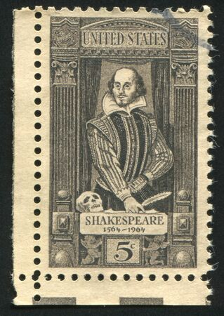 UNITED STATES - CIRCA 1964: stamp printed by United states, shows William Shakespeare, circa 1964