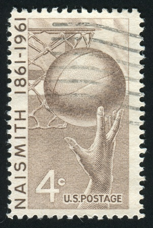 UNITED STATES - CIRCA 1961: stamp printed by United states, shows Basketball, circa 1961 photo