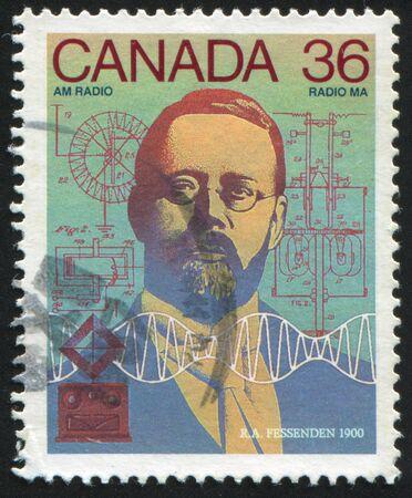 CANADA - CIRCA 1987: stamp printed by Canada, shows Reginald Aubrey Fessenden, circa 1987 Stock Photo - 9385308