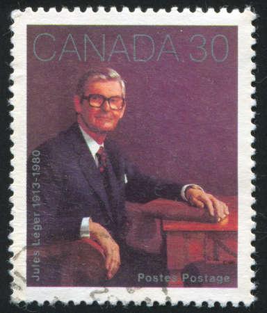 leger: CANADA - CIRCA 1982: stamp printed by Canada, shows Jules Leger, circa 1982